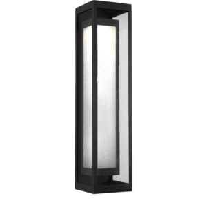 Box style outdoor sconce