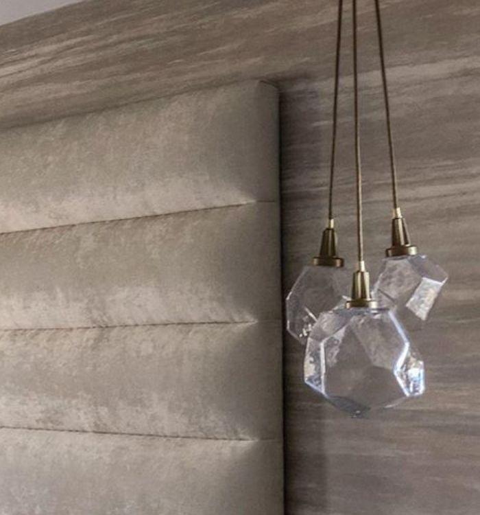 Hand blown glass pendant gems