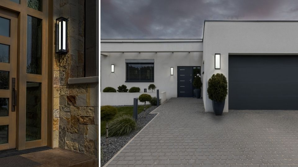 Outdoor Double Box Sconce ODB0027-26 & Outdoor Single Box Sconce ODB0027-12