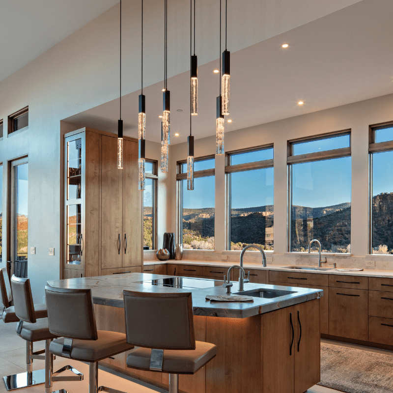 Linear kitchen island lighting