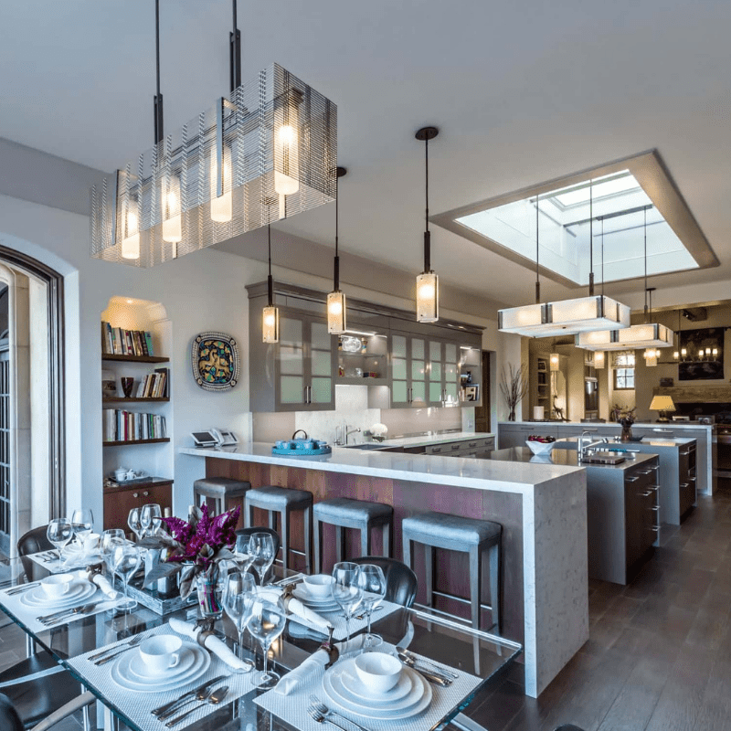 contemporary modern kitchen lighting