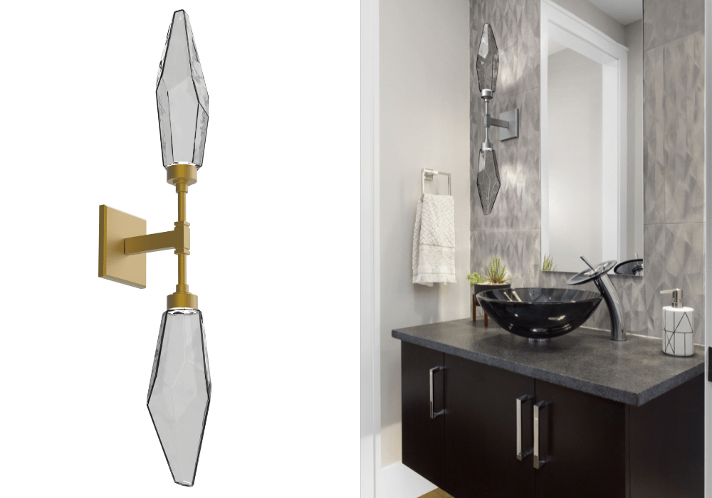 Rock Crystal Double Wall Sconce