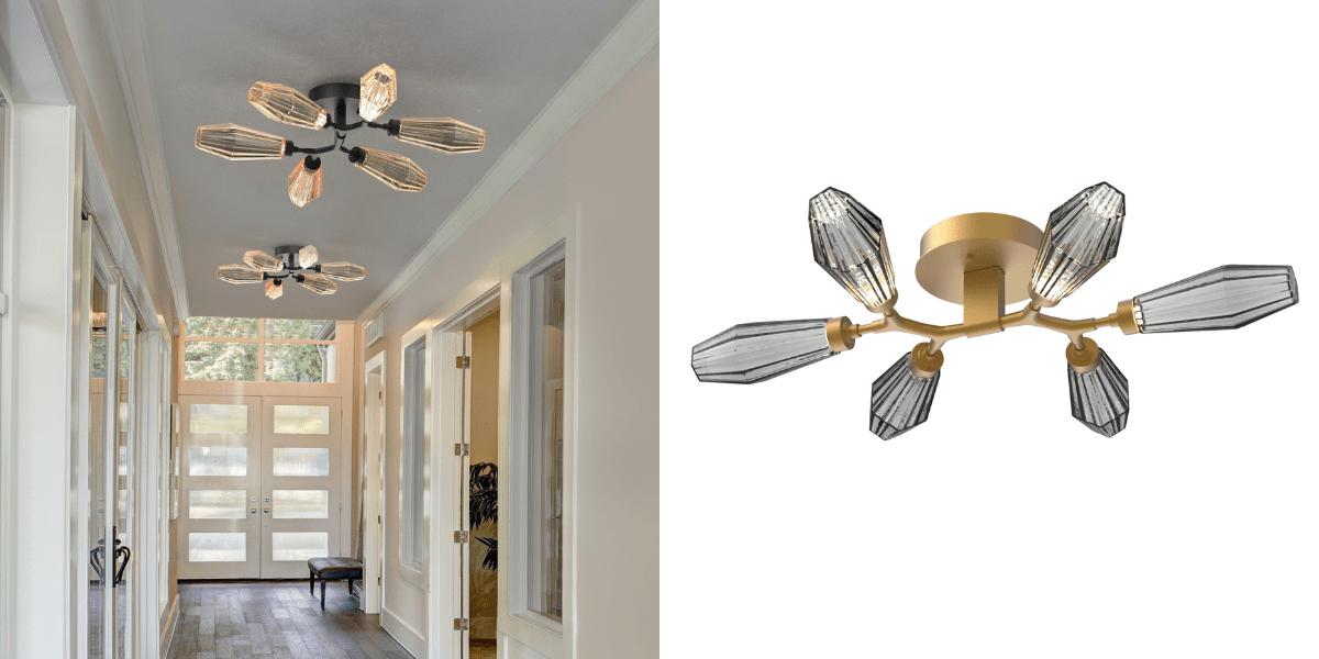 Aalto flush mount hallway lighting