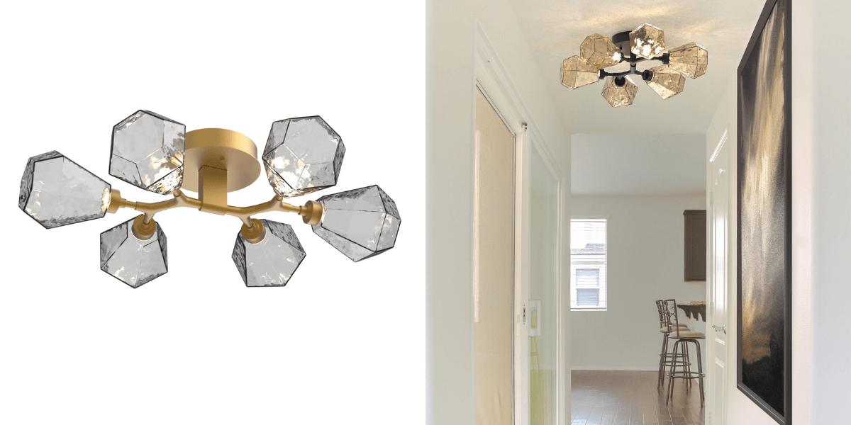 unique flush mount lighting